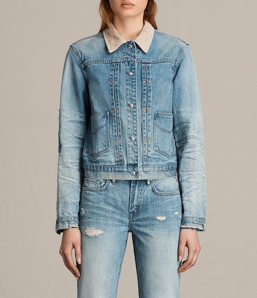 Women's Serene Denim Jacket (vintage_indigo_blu) - Image 1