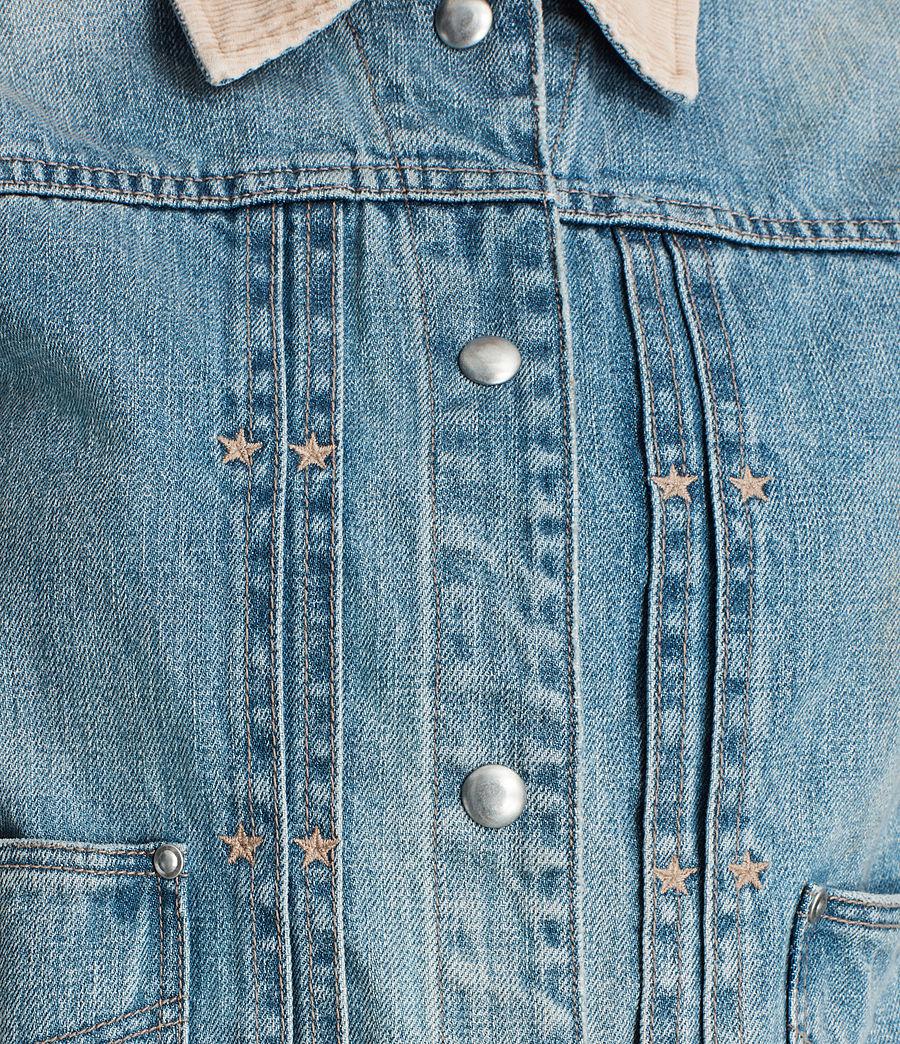 Women's Serene Denim Jacket (vintage_indigo_blu) - Image 2