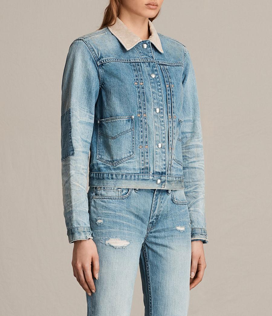 Women's Serene Denim Jacket (vintage_indigo_blu) - Image 3