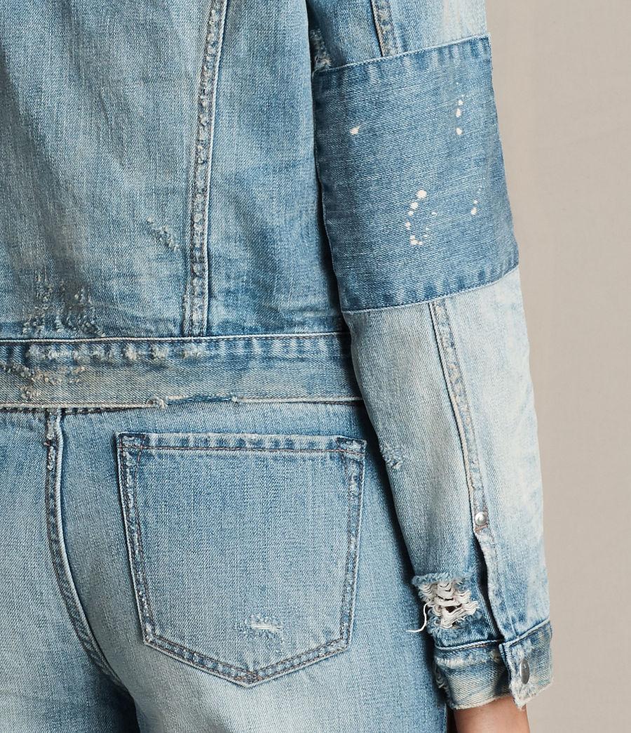 Women's Serene Denim Jacket (vintage_indigo_blu) - Image 4