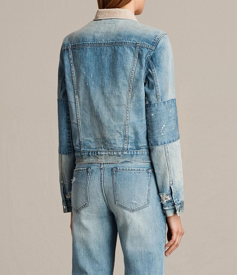 Women's Serene Denim Jacket (vintage_indigo_blu) - Image 5