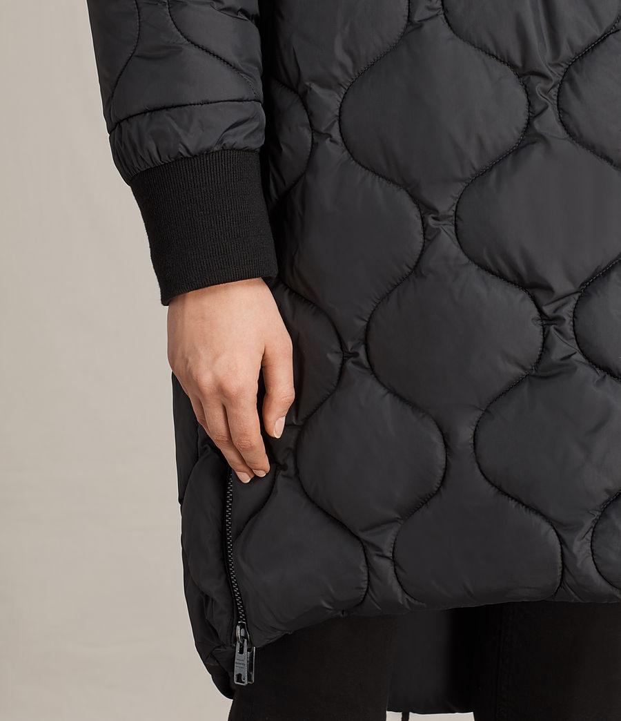Women's Sara Reversible Puffer (black) - Image 7