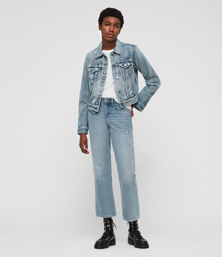 Women's Lexi Snap Denim Jacket (indigo_blue) - Image 2