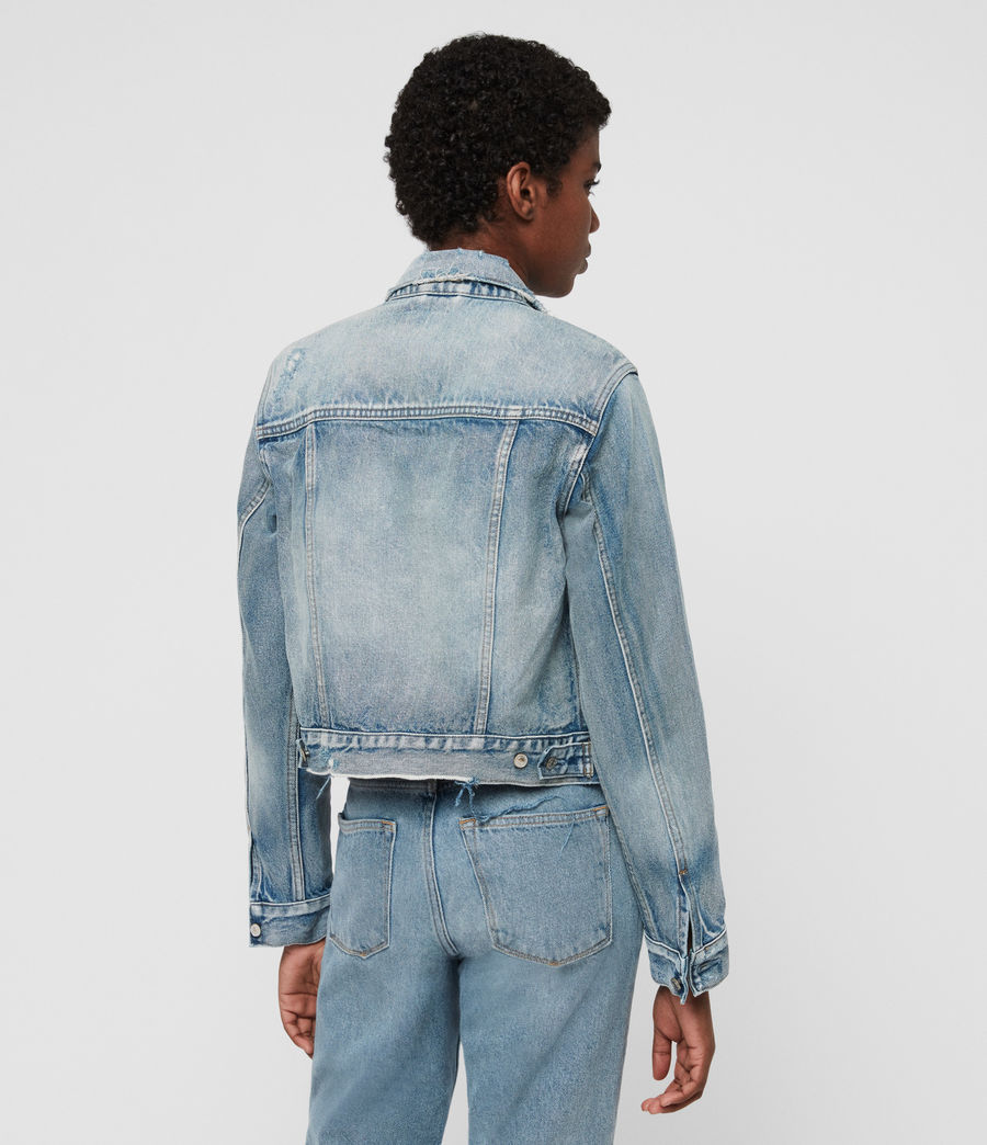 Women's Lexi Snap Denim Jacket (indigo_blue) - Image 4