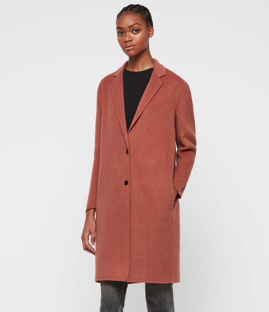 Womens Anya Coat (burnt_peach) - Image 3