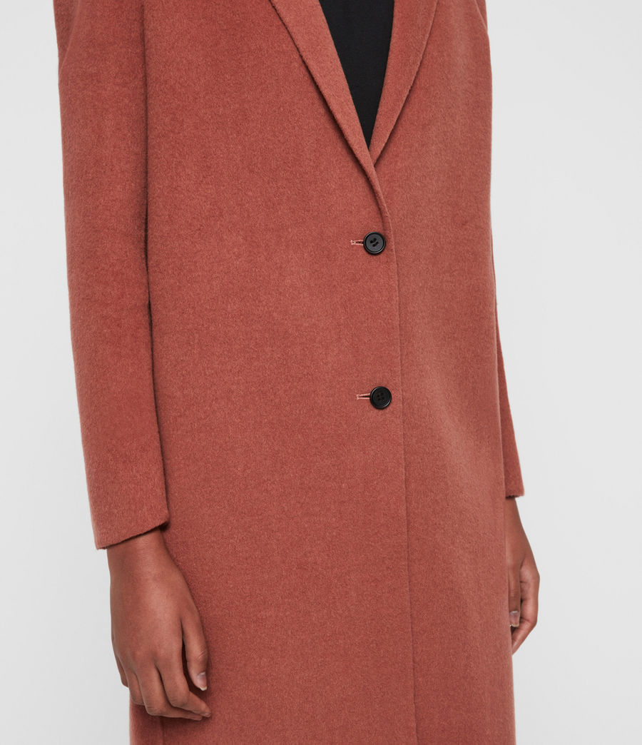 Women's Anya Coat (burnt_peach) - Image 4