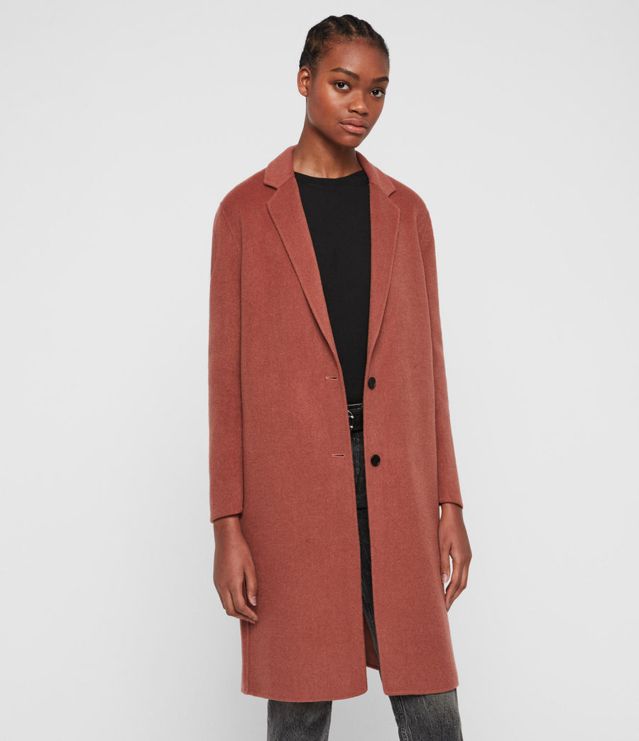 Womens Anya Coat (burnt_peach) - Image 6