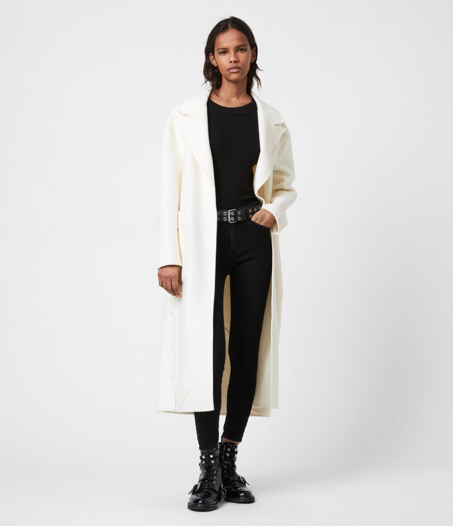 Womens Hazel Wool Blend Coat (ivory_white) - Image 1