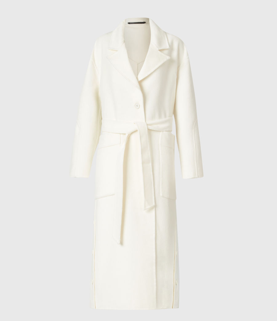 Womens Hazel Wool Blend Coat (ivory_white) - Image 2