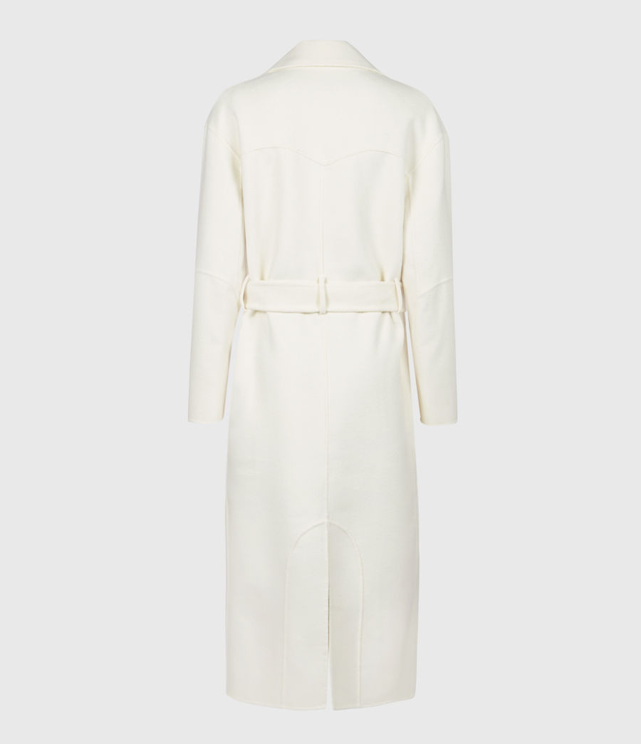Womens Hazel Wool Blend Coat (ivory_white) - Image 3