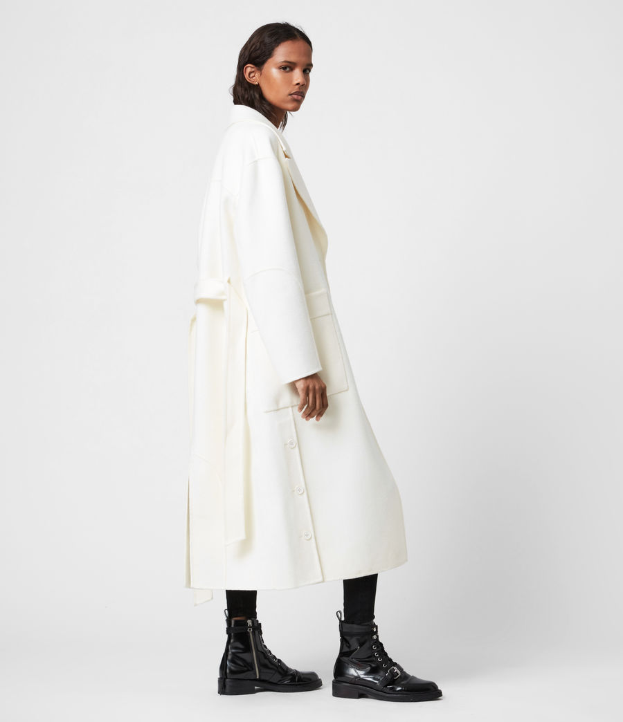 Womens Hazel Wool Blend Coat (ivory_white) - Image 7