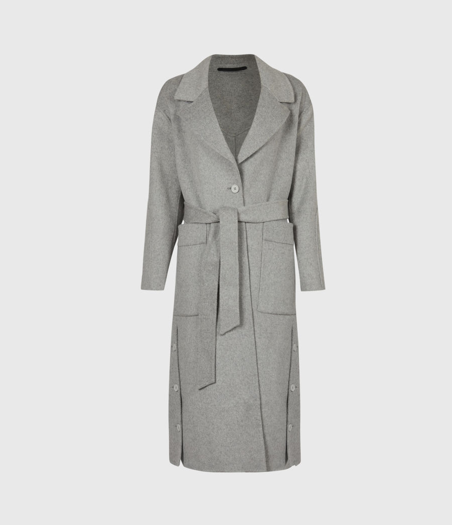 Womens Hazel Wool Blend Coat (silver_grey) - Image 2
