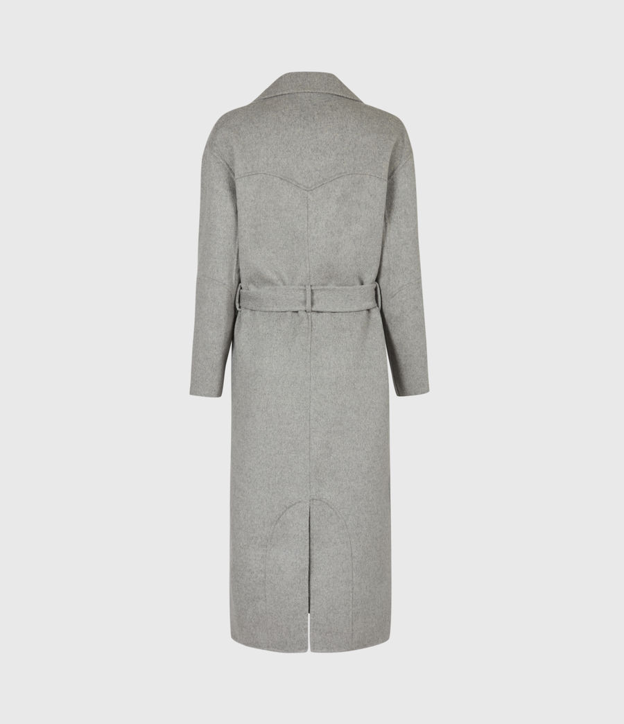 Womens Hazel Wool Blend Coat (silver_grey) - Image 3