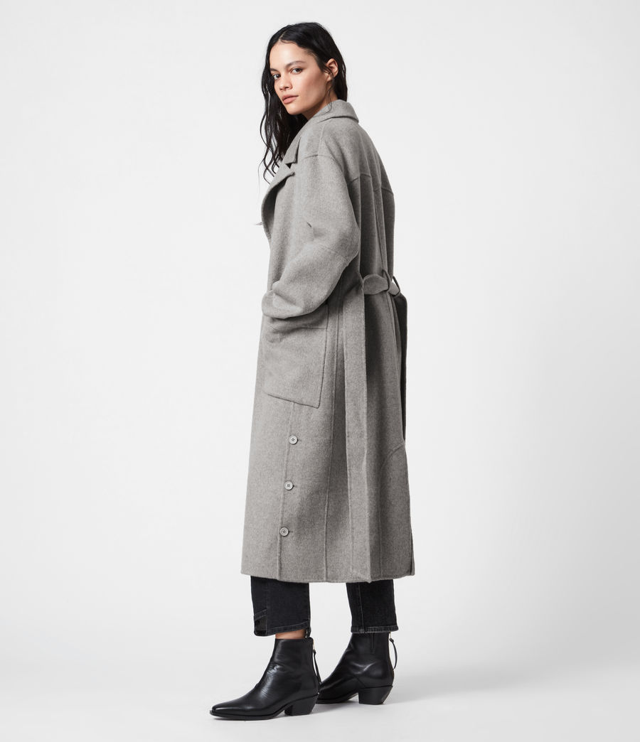Womens Hazel Wool Blend Coat (silver_grey) - Image 4