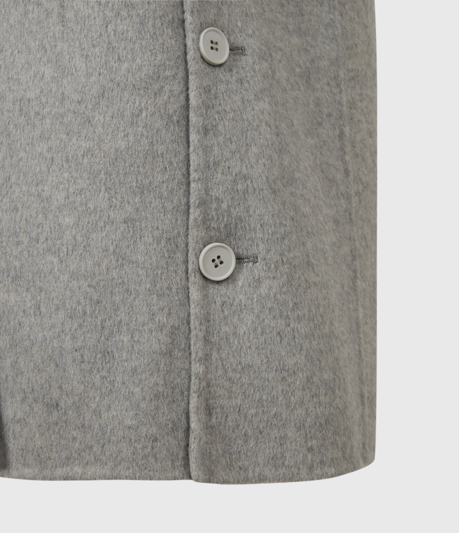 Womens Hazel Wool Blend Coat (silver_grey) - Image 6