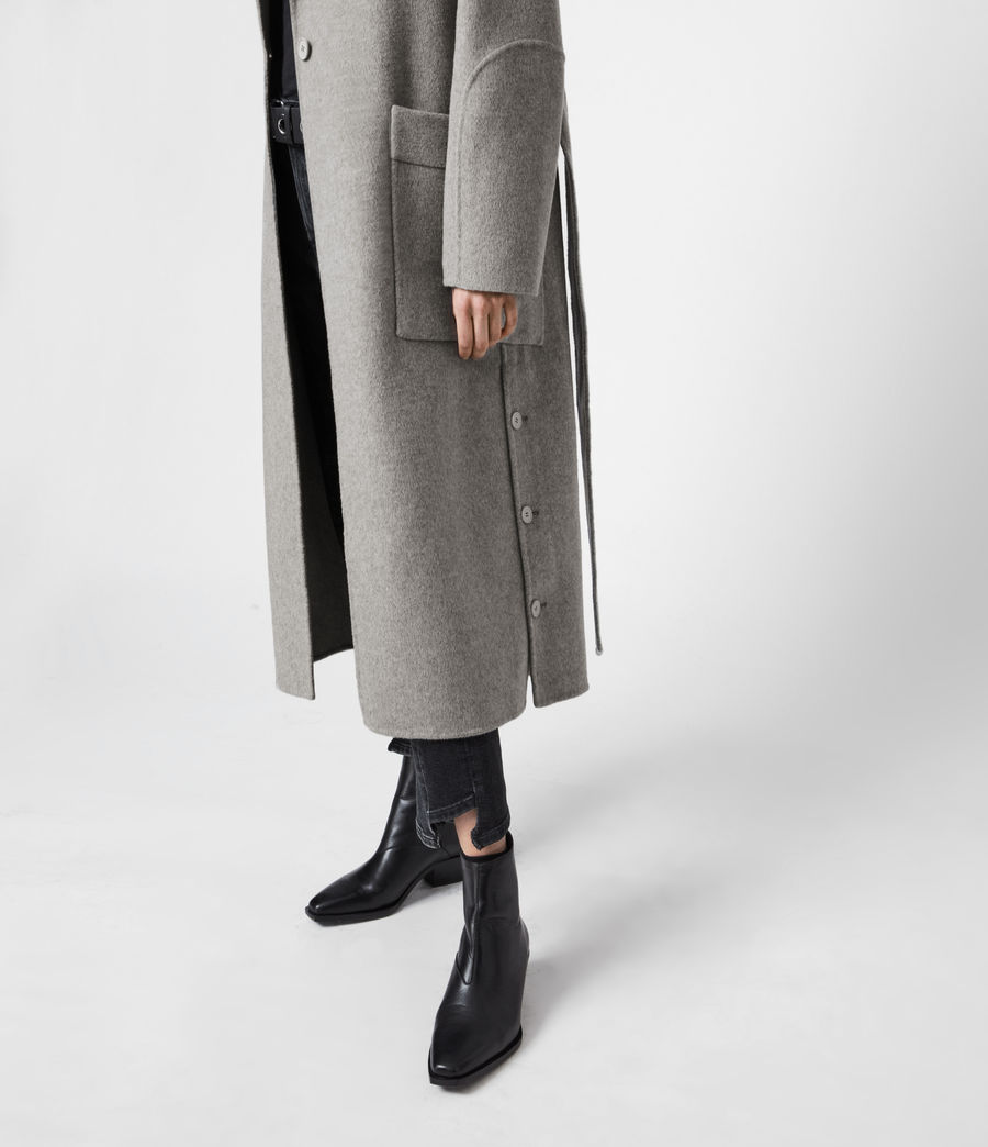 Womens Hazel Wool Blend Coat (silver_grey) - Image 7