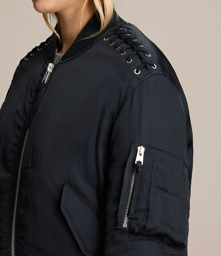 Women's Bree Laced Bomber Jacket (ink_blue) - Image 2
