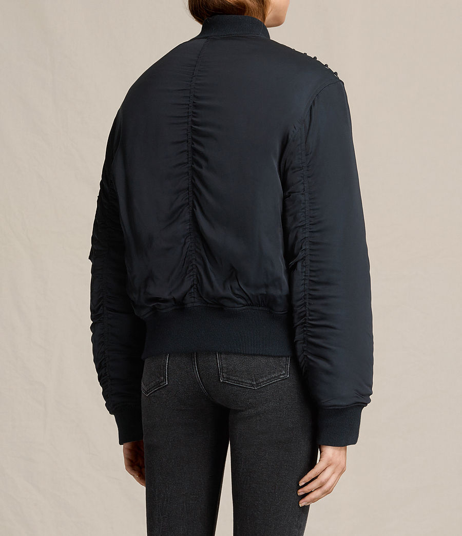 Women's Bree Laced Bomber Jacket (ink_blue) - Image 4