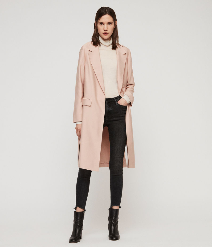 Women's Aleida Duster Coat (blush_pink) - Image 1