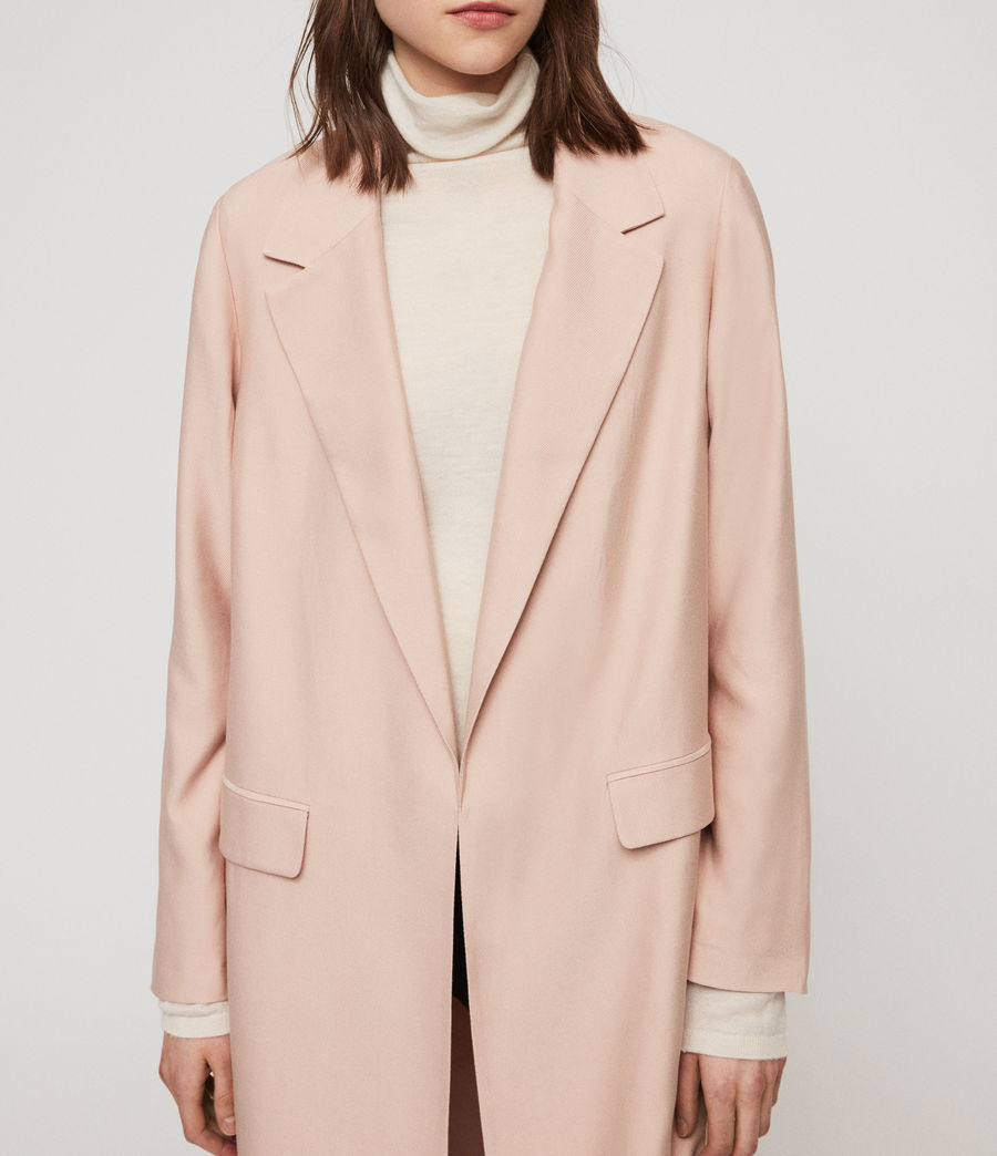 Women's Aleida Duster Coat (blush_pink) - Image 2
