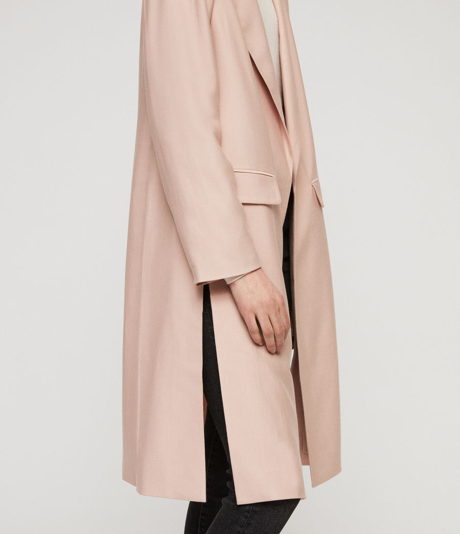 Women's Aleida Duster Coat (blush_pink) - Image 4