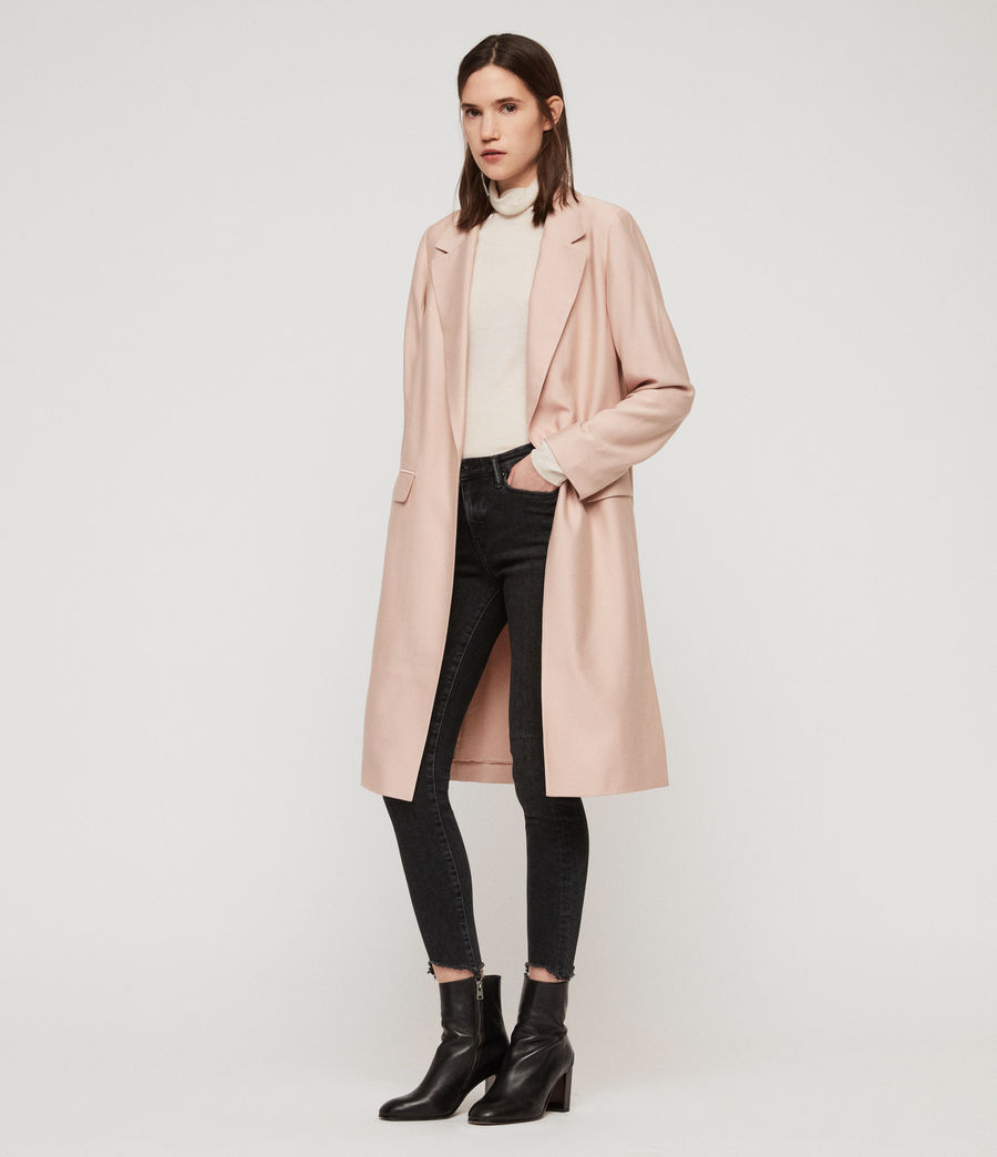 Women's Aleida Duster Coat (blush_pink) - Image 5