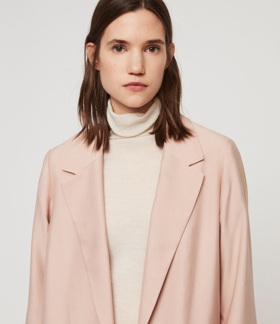 Women's Aleida Duster Coat (blush_pink) - Image 6