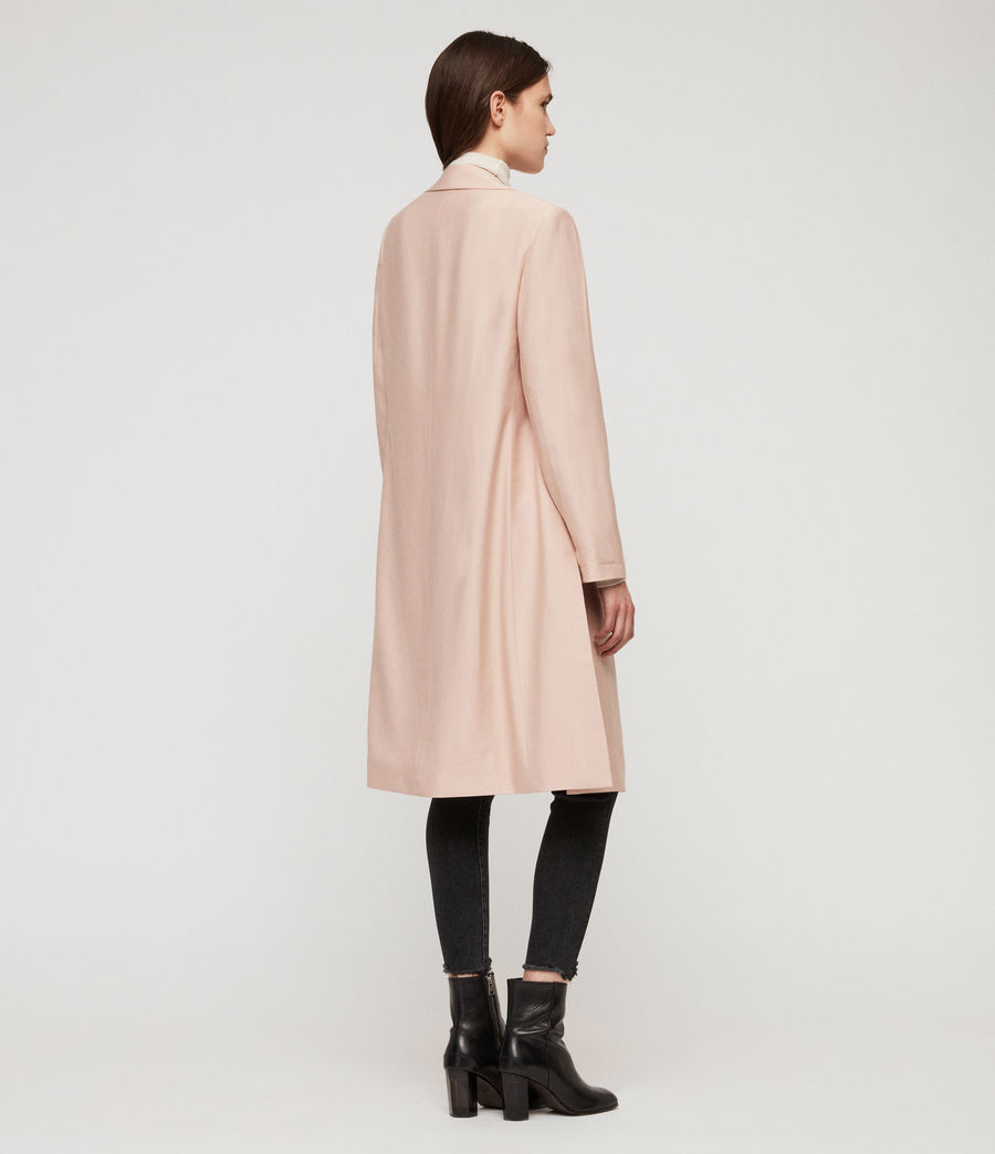 Women's Aleida Duster Coat (blush_pink) - Image 7