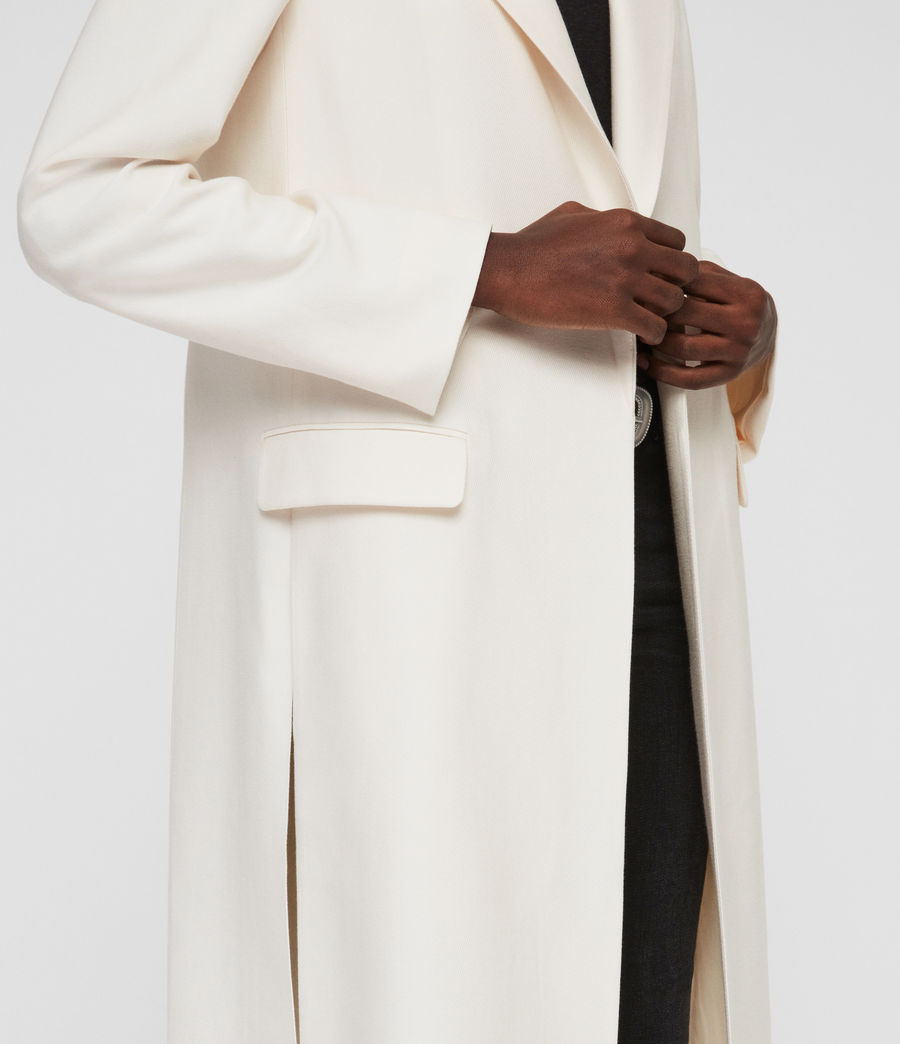 Womens Aleida Duster Coat (ecru_white) - Image 5