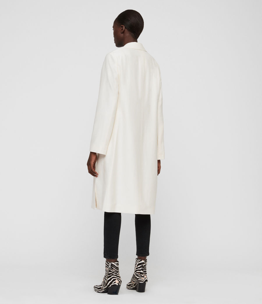 Womens Aleida Duster Coat (ecru_white) - Image 5