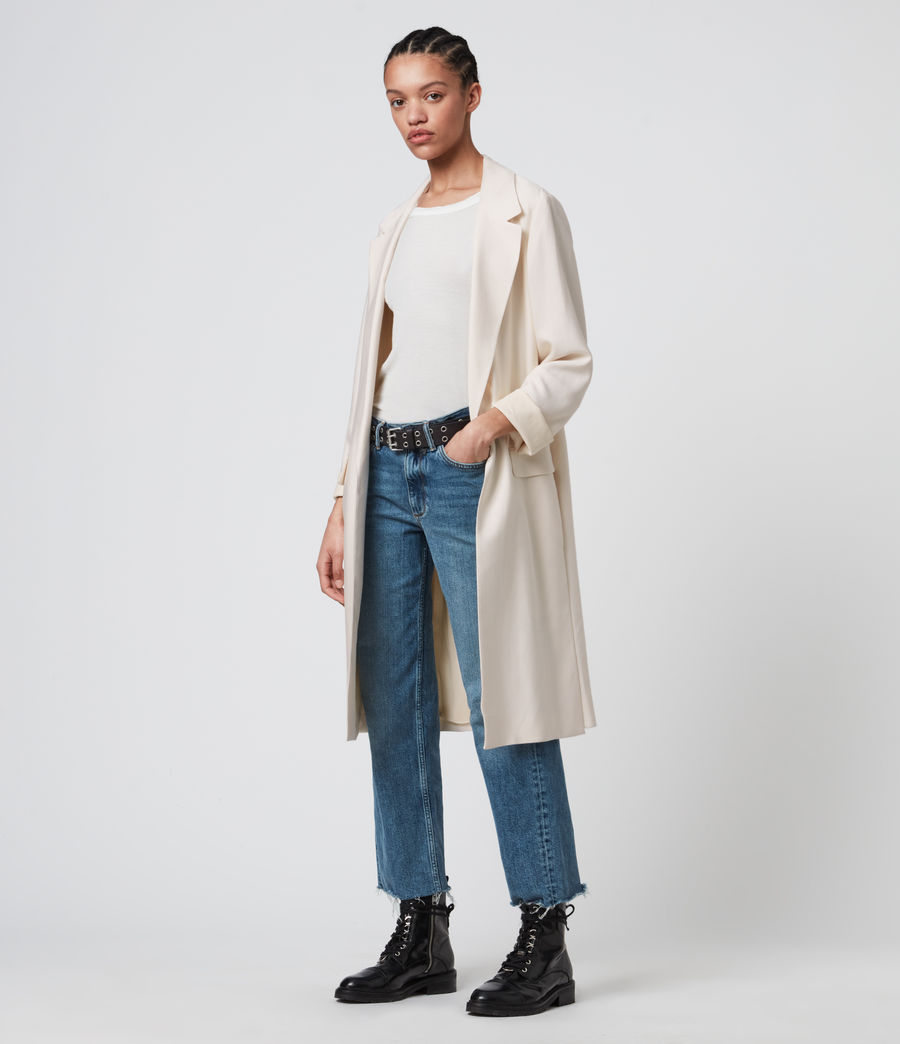 Womens Aleida Duster Coat (ecru_white) - Image 3