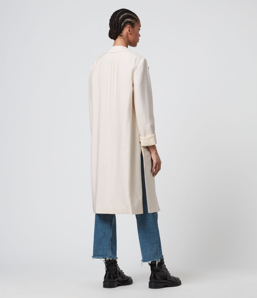 Womens Aleida Duster Coat (ecru_white) - Image 4