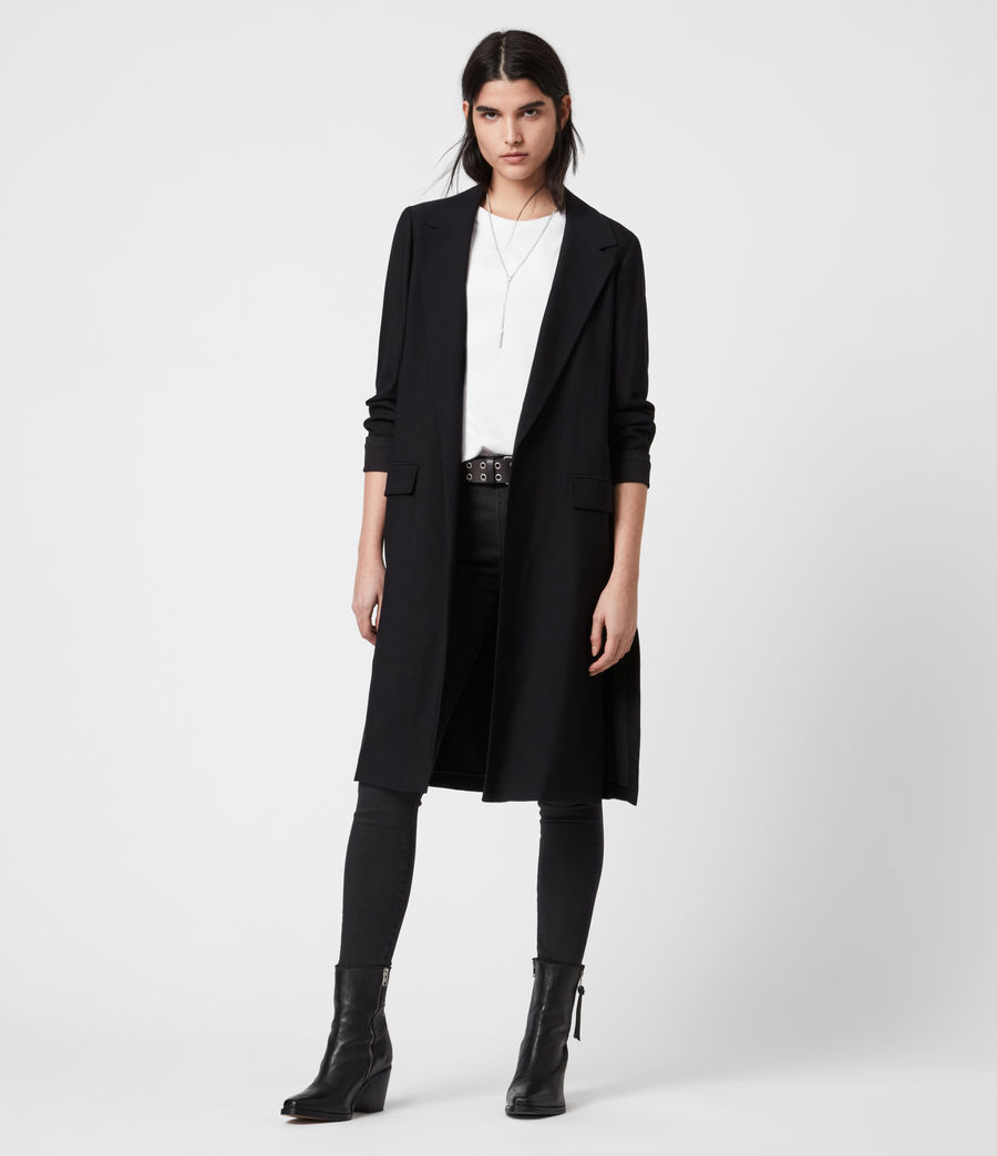 Womens Aleida Duster Coat (black) - Image 1
