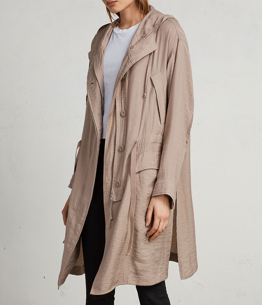 Womens Kinsley Parka (dusty_pink) - Image 1