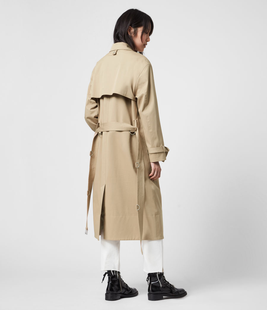 Women's Zadie 2-In-1 Trench Coat (beige_denim_blue) - Image 10
