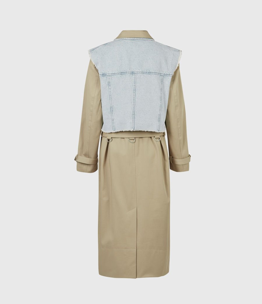 Women's Zadie 2-In-1 Trench Coat (beige_denim_blue) - Image 5