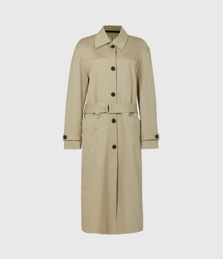 Women's Zadie 2-In-1 Trench Coat (beige_denim_blue) - Image 8
