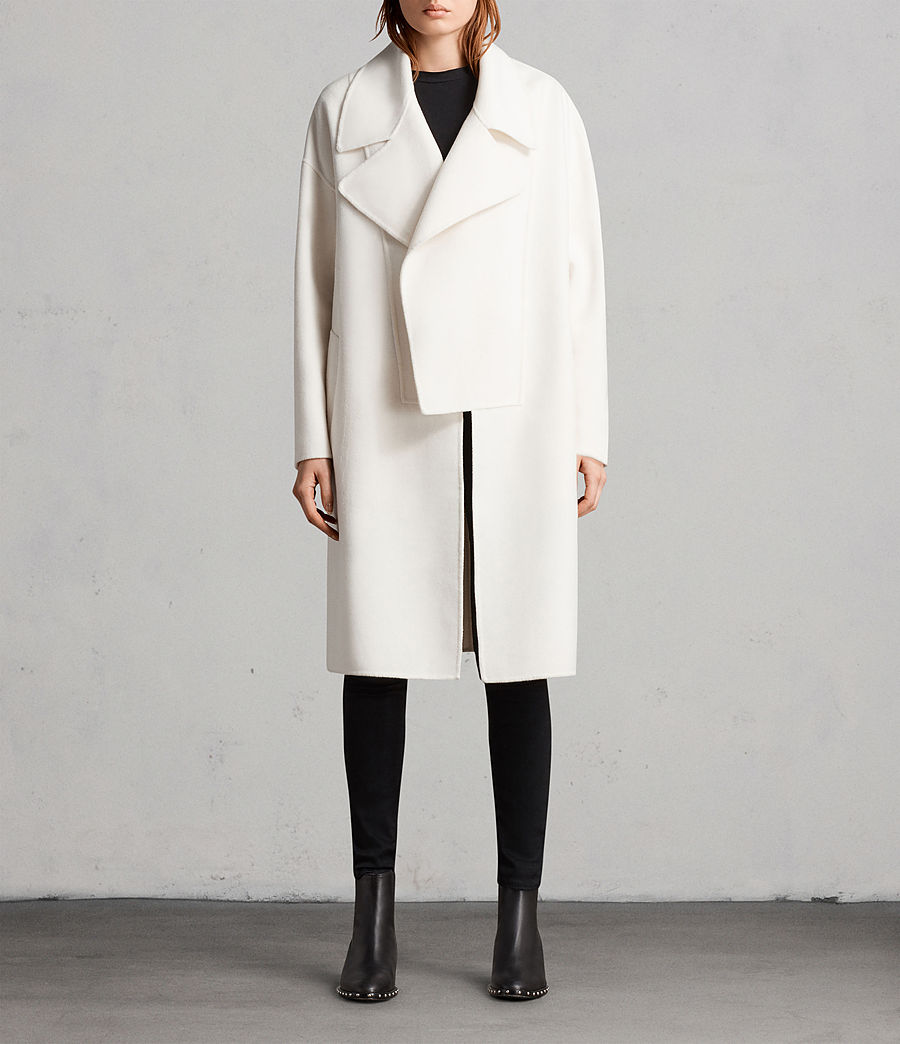 Womens Ryder Coat (porcelain_white) - Image 1