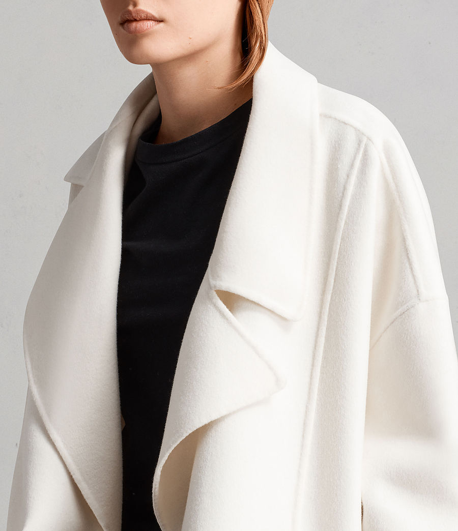 Womens Ryder Coat (porcelain_white) - Image 2
