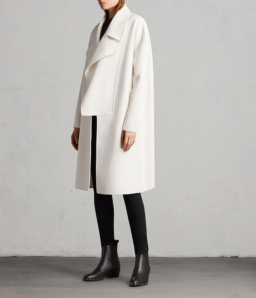 Womens Ryder Coat (porcelain_white) - Image 3