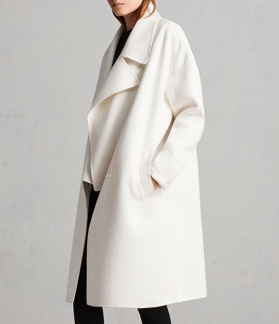 Womens Ryder Coat (porcelain_white) - Image 4
