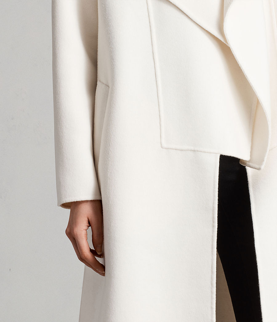 Womens Ryder Coat (porcelain_white) - Image 5