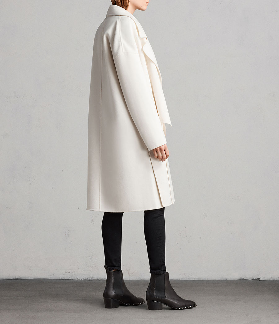 Womens Ryder Coat (porcelain_white) - Image 6