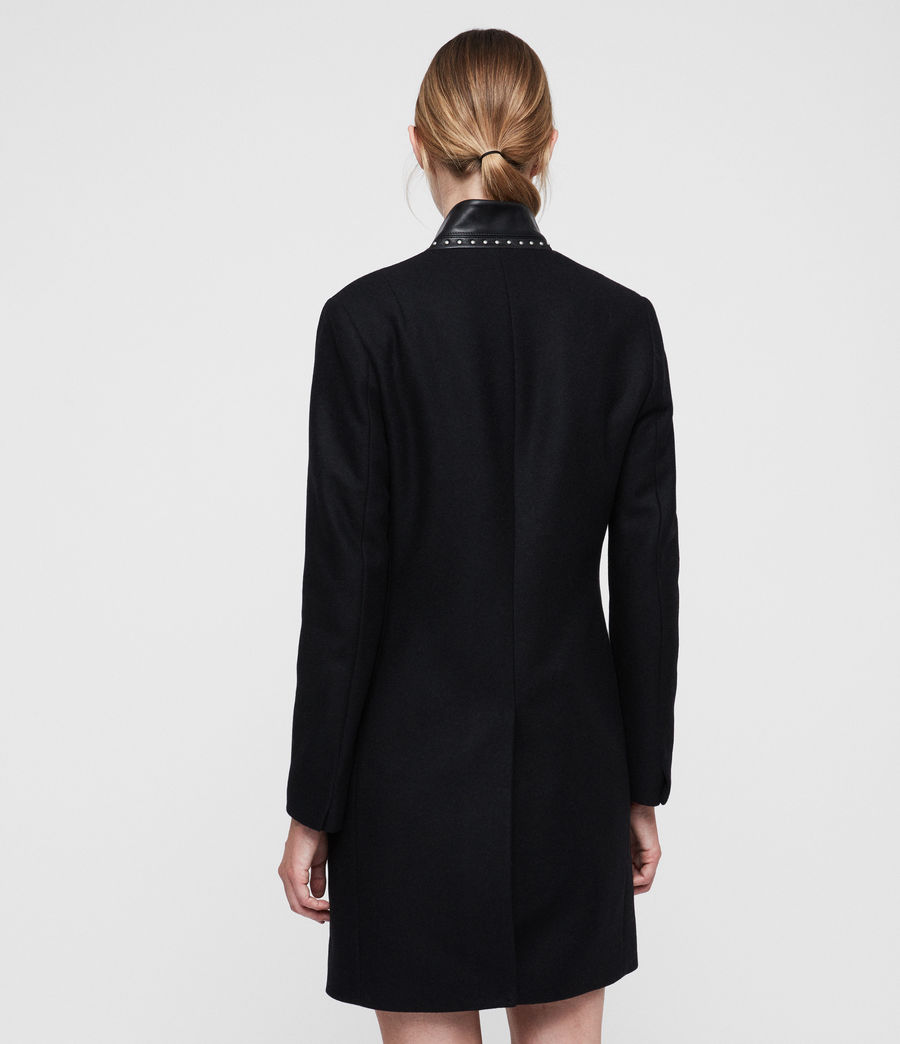 Womens Leni Stud Coat (black) - Image 4