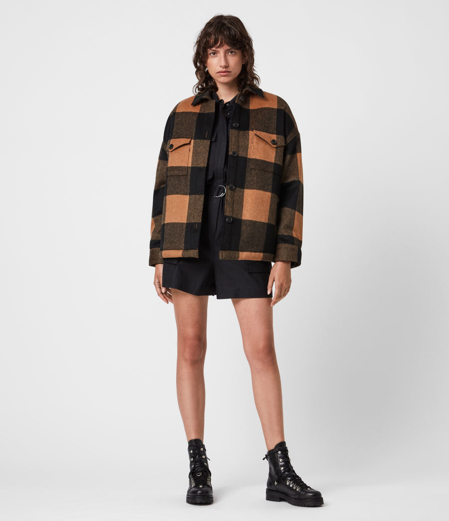Boxy Check Jacket