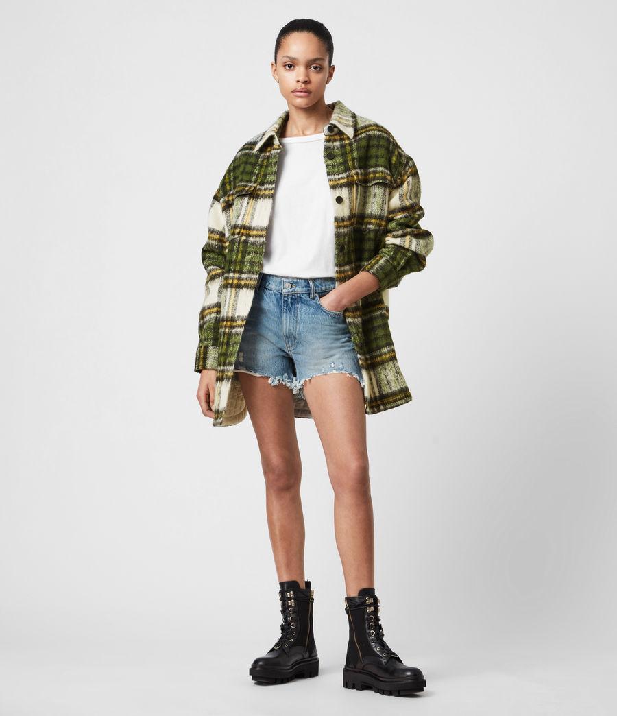 Women's Sophie Check Jacket (green_ecru_white) - Image 1