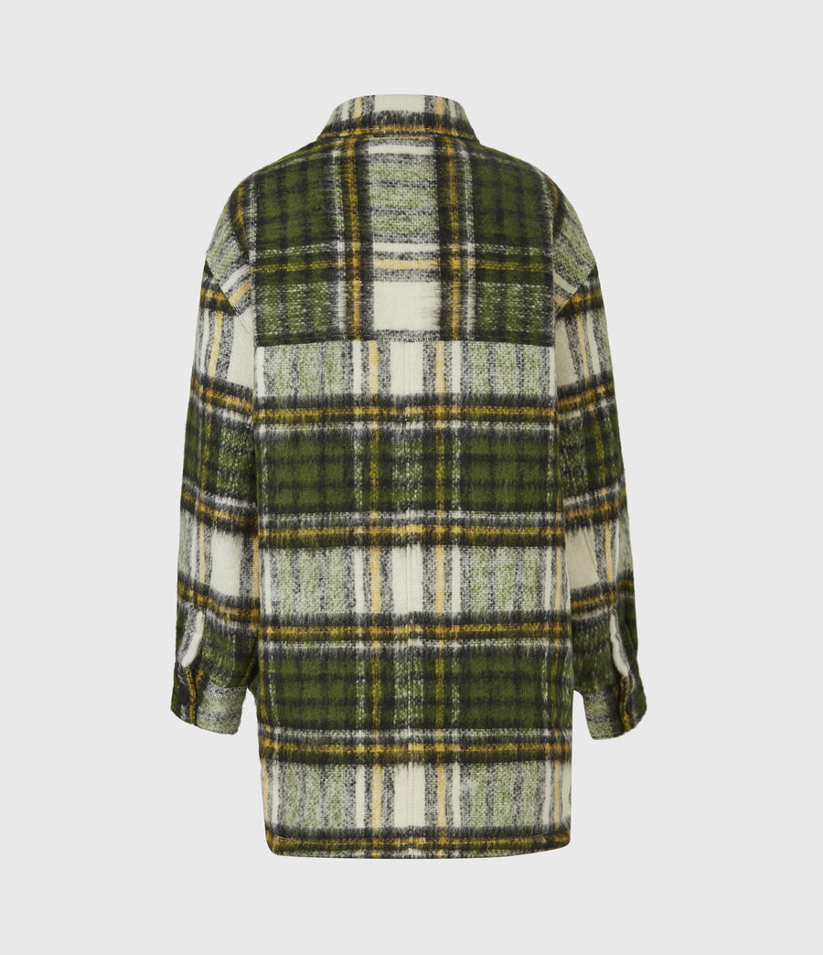 Women's Sophie Check Jacket (green_ecru_white) - Image 3