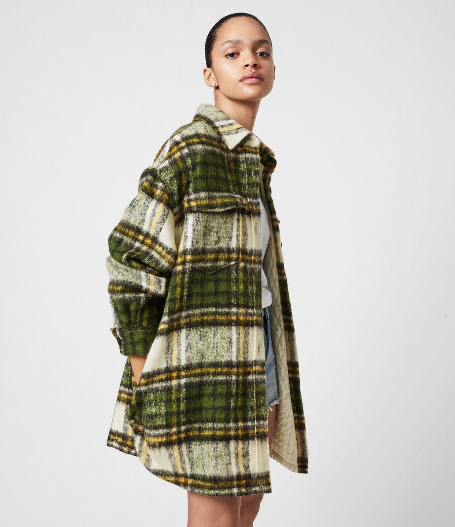 Women's Sophie Check Jacket (green_ecru_white) - Image 4
