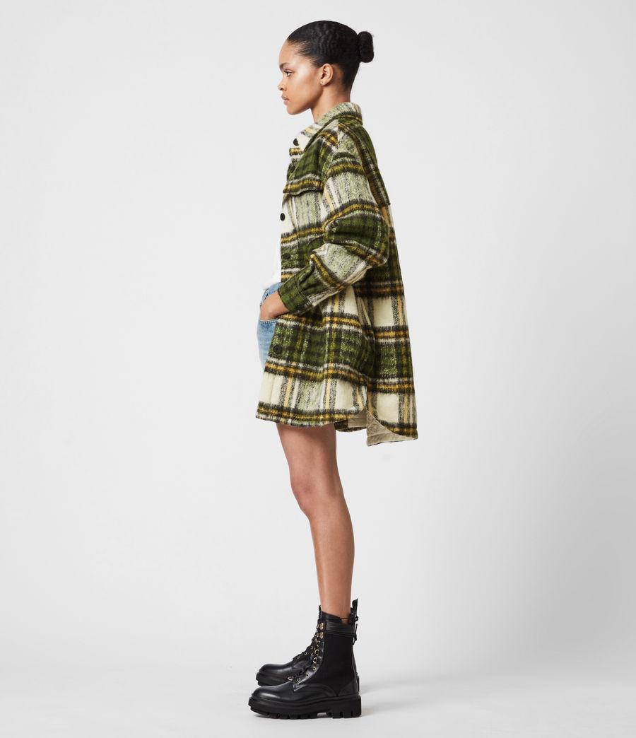 Women's Sophie Check Jacket (green_ecru_white) - Image 6