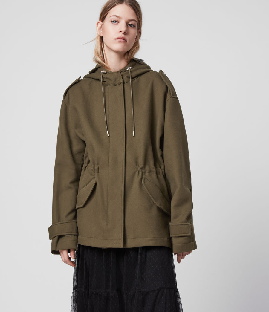 Womens Kelsie Jacket (khaki_green) - Image 4